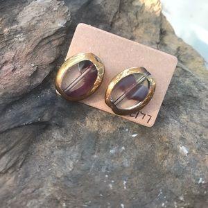 Glass Stud Earrings E177
